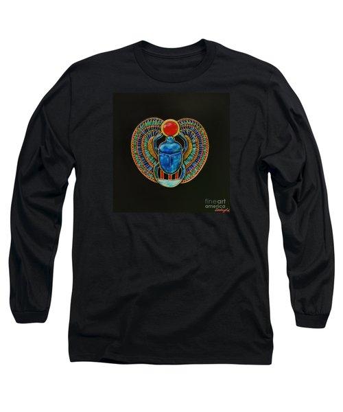 Scarab Long Sleeve T-Shirt by Joseph Sonday