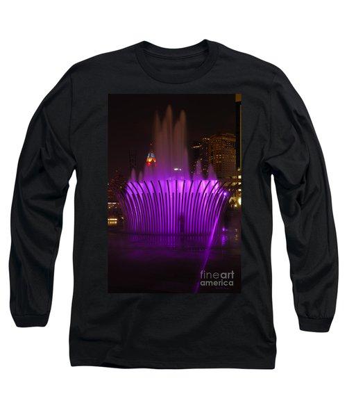 D101l-11 Scioto Mile Riverfront Park Photo Long Sleeve T-Shirt
