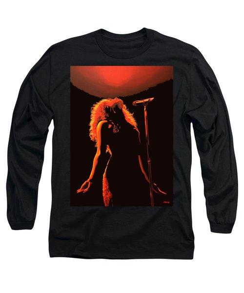 Shakira Long Sleeve T-Shirt by Paul Meijering