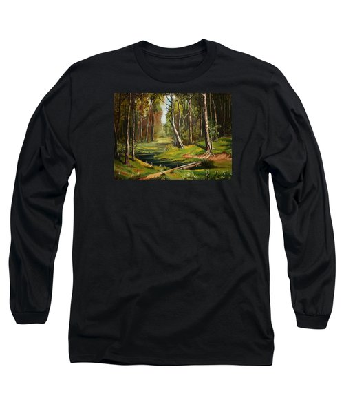 Silence Of The Forest Long Sleeve T-Shirt by Kate Black