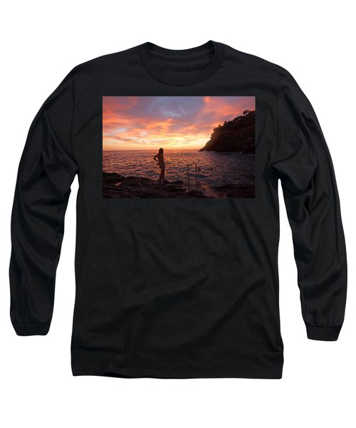 Silhouette Long Sleeve T-Shirt by Susan Rovira