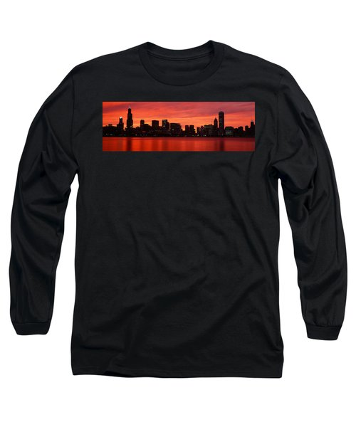 Skyscrapers At The Waterfront, Chicago Long Sleeve T-Shirt