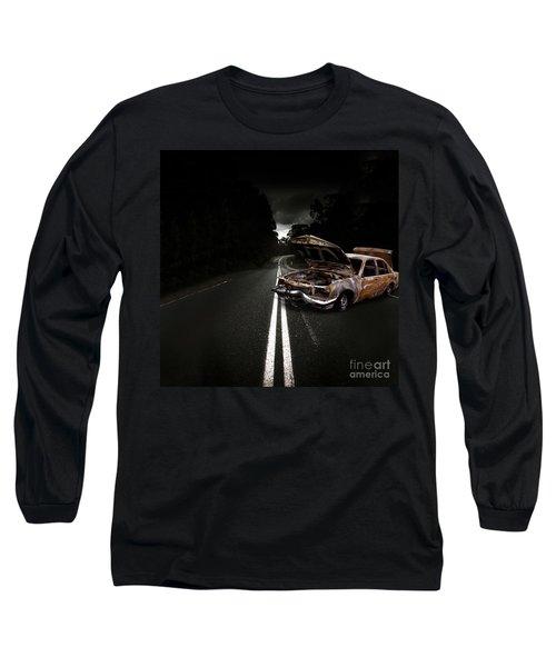 Smashed Up Car Wreck Long Sleeve T-Shirt