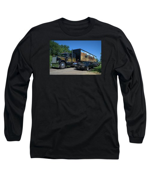 Smokey And The Bandit Tribute 1973 Kenworth Semi Truck And The Bandit Long Sleeve T-Shirt by Tim McCullough