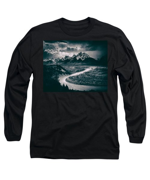 Snake River In The Tetons - 1930s Long Sleeve T-Shirt by Mountain Dreams