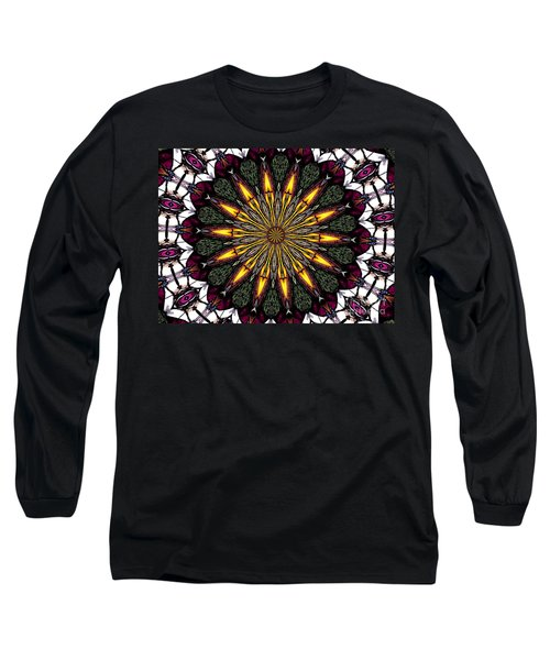 Long Sleeve T-Shirt featuring the photograph Stained Glass Kaleidoscope 1 by Rose Santuci-Sofranko
