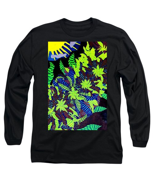 Long Sleeve T-Shirt featuring the painting Summer Bloom by Jonathon Hansen