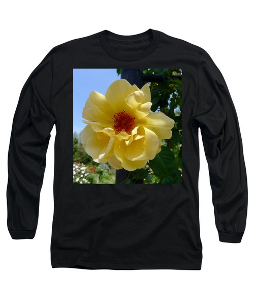 Sunny Yellow Rose Long Sleeve T-Shirt