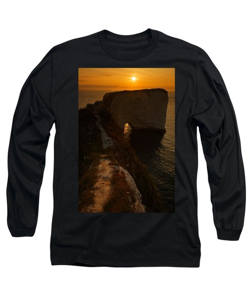 Sunrise At Old Harry Rocks Long Sleeve T-Shirt
