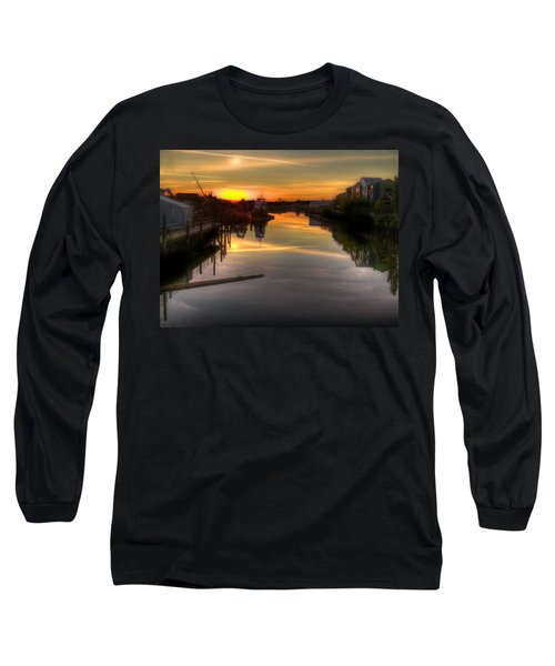 Sunrise On The Petaluma River Long Sleeve T-Shirt by Bill Gallagher