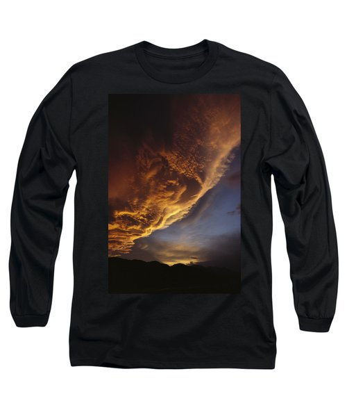 Sunset On Storm Clouds Near Mt Cook Long Sleeve T-Shirt