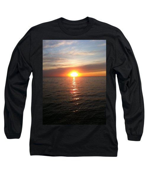 Long Sleeve T-Shirt featuring the photograph Sunset On The Bay by Tiffany Erdman