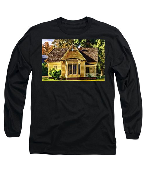 Long Sleeve T-Shirt featuring the painting Sweet Home by Muhie Kanawati