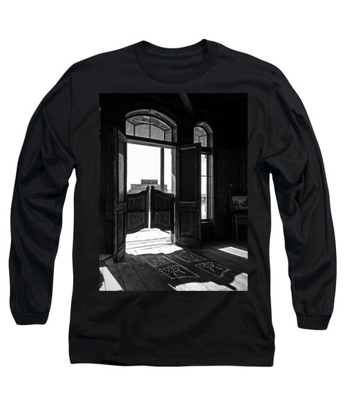 Swinging Doors Long Sleeve T-Shirt by Lucinda Walter