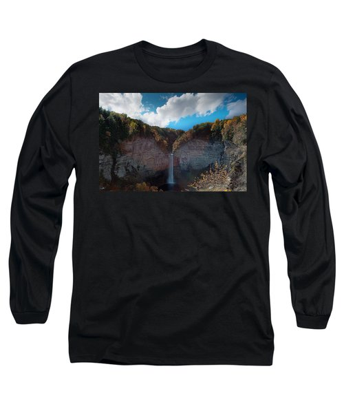 Long Sleeve T-Shirt featuring the photograph Taughannock Falls Ithaca New York by Paul Ge