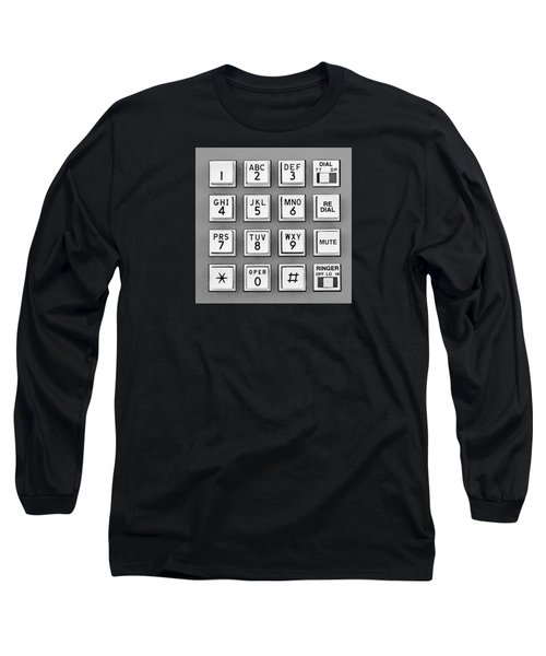 Telephone Touch Tone Keypad Long Sleeve T-Shirt by Jim Hughes