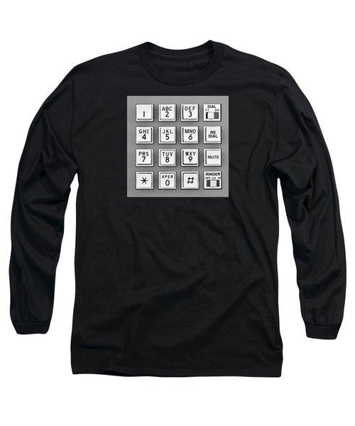 Telephone Touch Tone Keypad Long Sleeve T-Shirt