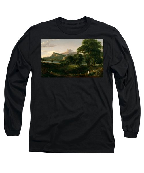 The Course Of Empire The Arcadian Or Pastoral State Long Sleeve T-Shirt