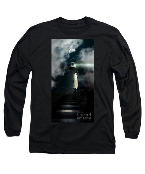 The Dark Atmospheric Lighthouse Long Sleeve T-Shirt