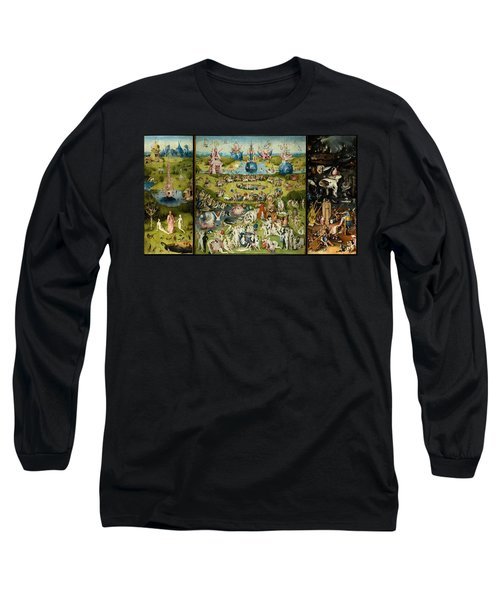 The Garden Of Earthly Delights Long Sleeve T-Shirt by Hieronymus Bosch