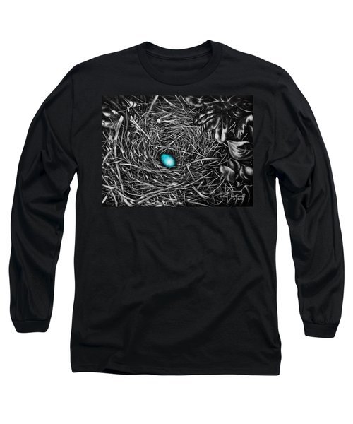 Long Sleeve T-Shirt featuring the painting The Robin's Egg by Craig T Burgwardt