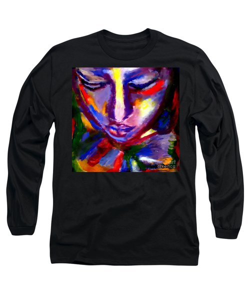 Long Sleeve T-Shirt featuring the painting The Universe And Me by Helena Wierzbicki