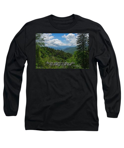 Long Sleeve T-Shirt featuring the photograph Things Above by Larry Bishop