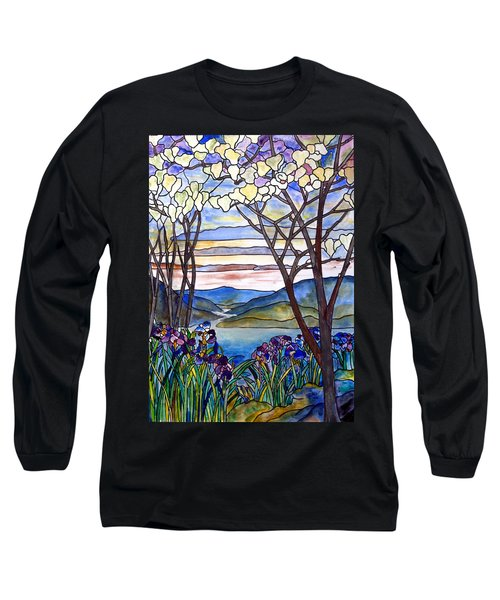 Stained Glass Tiffany Frank Memorial Window Long Sleeve T-Shirt