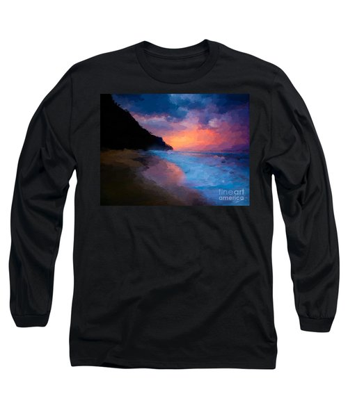 Long Sleeve T-Shirt featuring the digital art Tropical Paradise by Anthony Fishburne