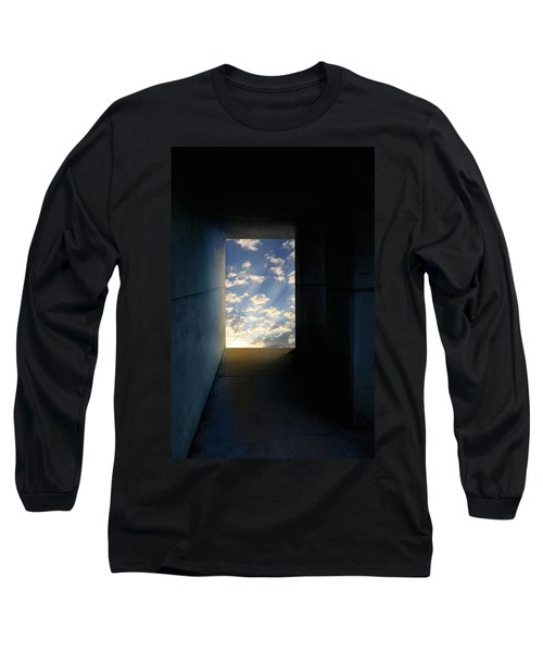 Tunnel With Light Long Sleeve T-Shirt by Melinda Fawver