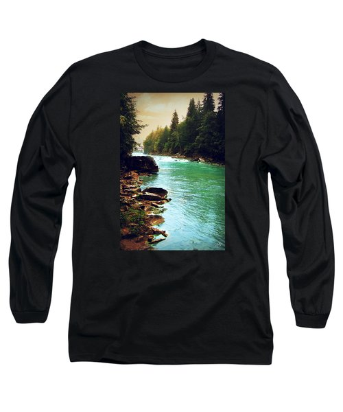 Ukrainian River Long Sleeve T-Shirt by Kate Black