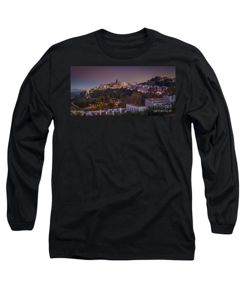 Vejer De La Frontera Panorama Cadiz Spain Long Sleeve T-Shirt by Pablo Avanzini