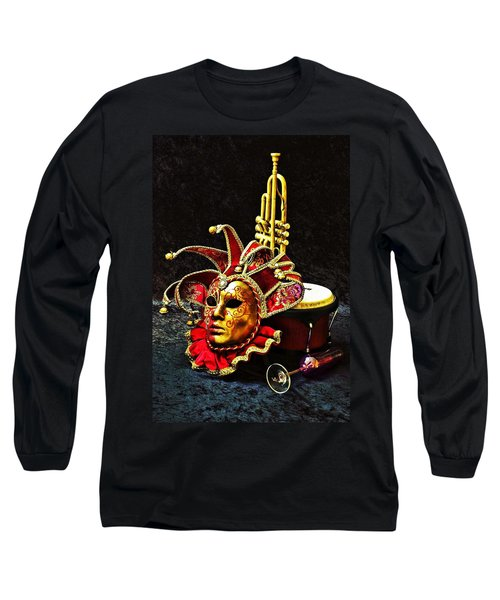 Long Sleeve T-Shirt featuring the photograph Venitian Joker 2 by Elf Evans