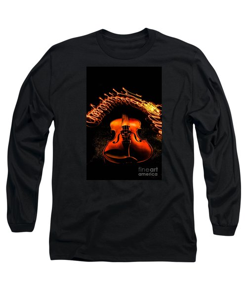 Violin Light Painting Long Sleeve T-Shirt