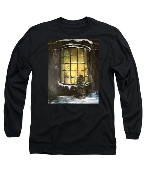 Long Sleeve T-Shirt featuring the painting Ye Old Shoppe  by Jean Walker