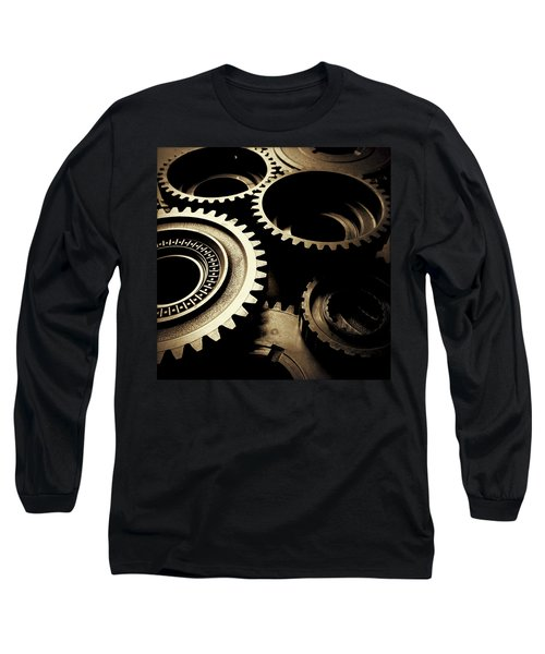 Cogs Long Sleeve T-Shirt by Les Cunliffe