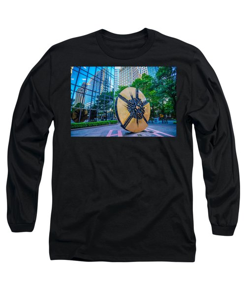 Skyline And City Streets Of Charlotte North Carolina Usa Long Sleeve T-Shirt
