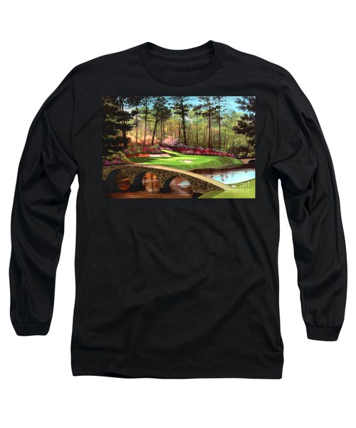 12th Hole At Augusta  Long Sleeve T-Shirt by Tim Gilliland