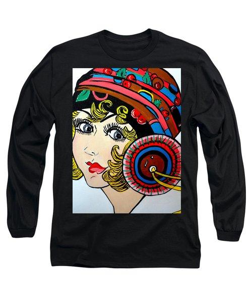 Art Deco  Ann Long Sleeve T-Shirt by Nora Shepley