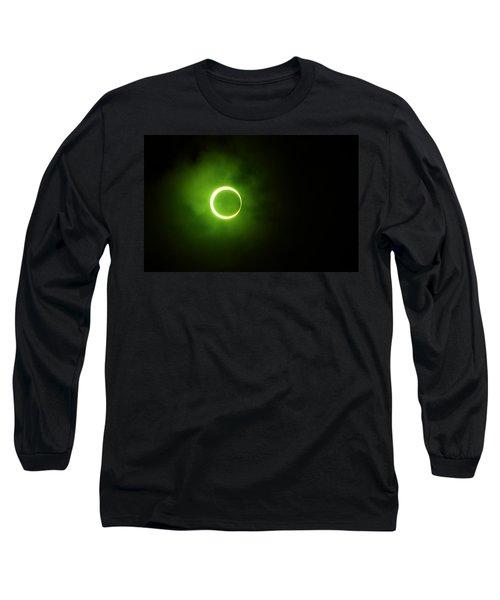 15 January 2010 Solar Eclipse Maldives Long Sleeve T-Shirt by Jenny Rainbow