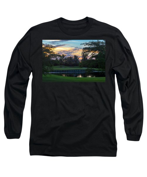 15th Green At Hollybrook Long Sleeve T-Shirt by Ed Gleichman