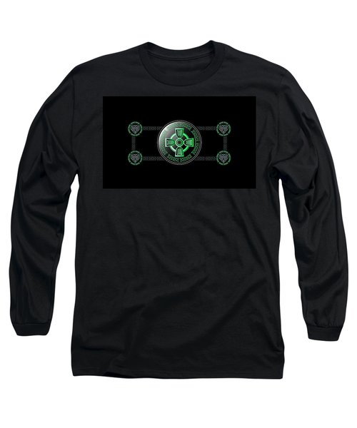 Celtic Cross Long Sleeve T-Shirt by Ireland Calling