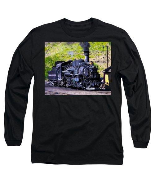 1923 Vintage  Railroad Train Locomotive  Long Sleeve T-Shirt