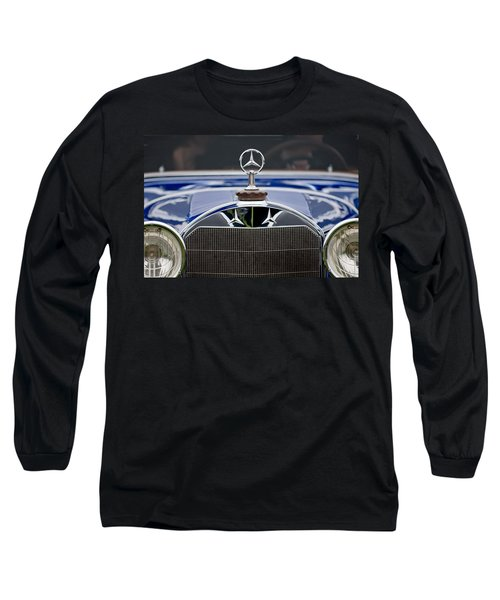 1929 Mercedes Benz S Erdmann And Rossi Cabiolet Hood Ornament Long Sleeve T-Shirt