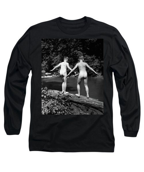 1930s Rear View Pair Naked Skinny- Long Sleeve T-Shirt