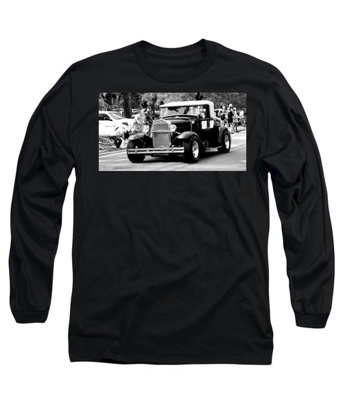 Long Sleeve T-Shirt featuring the photograph 1934 Classic Car In Black And White by Ester  Rogers