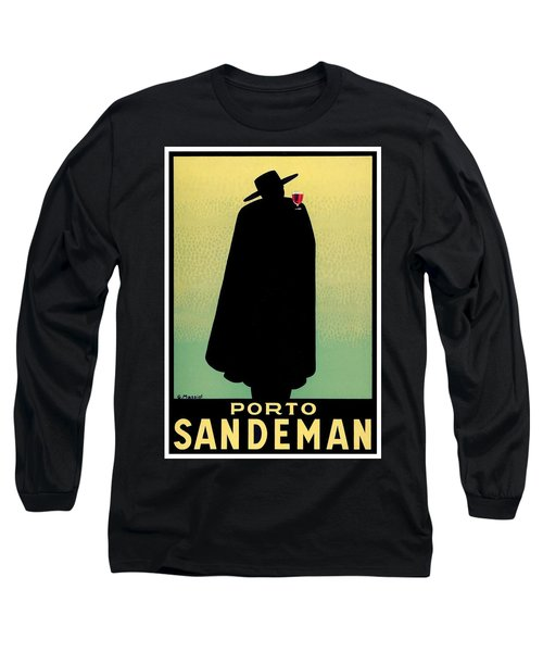 1938 - Porto Sandeman French Wines Advertisement Poster - Color Long Sleeve T-Shirt