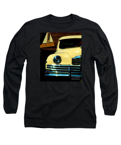 Long Sleeve T-Shirt featuring the photograph 1950 Yellow Packard by Janette Boyd