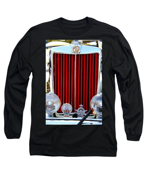 Vintage Long Sleeve T-Shirt featuring the photograph 1950 Mg by Aaron Berg