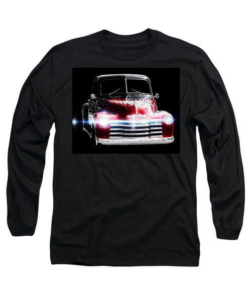 Vintage Long Sleeve T-Shirt featuring the photograph 1950's Chevrolet Truck by Aaron Berg